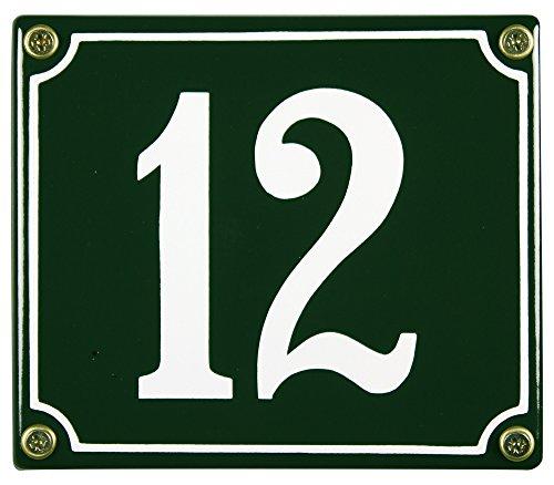 Buddel Bini Wetterfestes Emaille Hausnummernschild 12 12 x 14 cm sofort lieferbar grün
