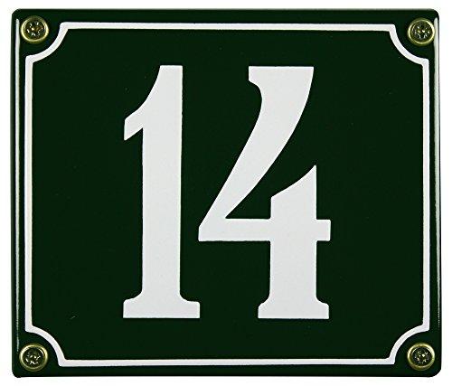 Buddel Bini Wetterfestes Emaille Hausnummernschild 14 12 x 14 cm sofort lieferbar grün