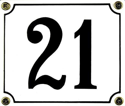 Buddel Bini Wetterfestes Emaille Hausnummernschild 21 12 x 14 cm sofort lieferbar weiß