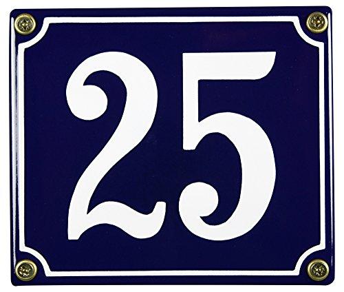 Buddel Bini Wetterfestes Emaille Hausnummernschild 25 12 x 14 cm sofort lieferbar blau