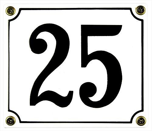 Buddel Bini Wetterfestes Emaille Hausnummernschild 25 12 x 14 cm sofort lieferbar weiß