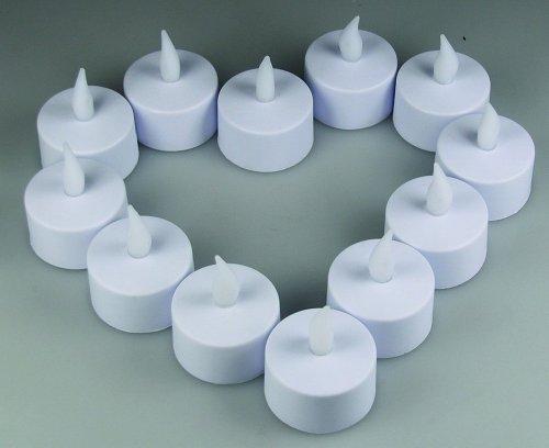 12er Set LED Teelichter flackernde Kerzen elektri