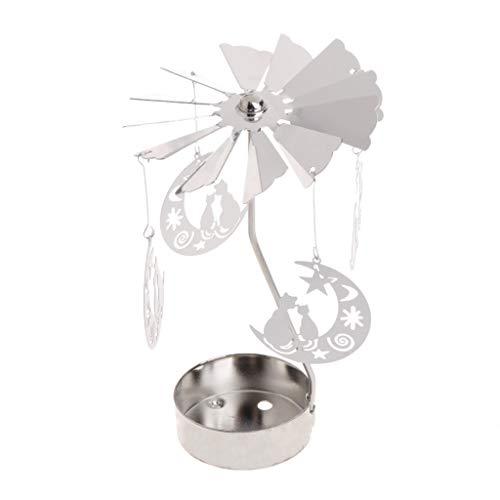 Senoow Rotary Spinning Teelicht Kerze LED Licht Metall Halter Kerzenhalter Stand Karussell Dekoration Geschenke