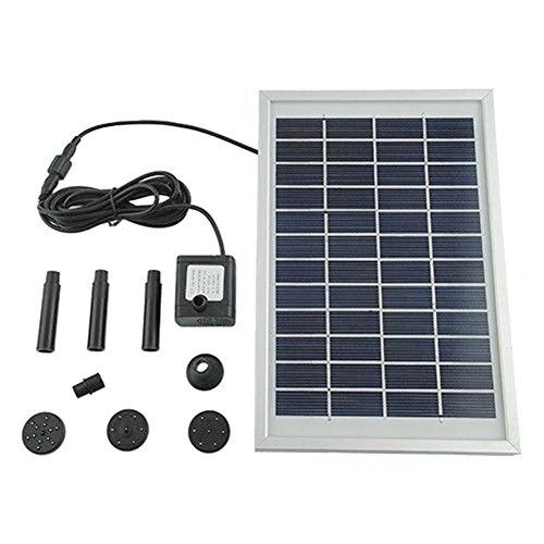 MVPower Wasserpumpe Solarpumpe Solar Teichpumpe Solarteichpumpe Gartenpumpe für Gartenteich oder Springbrunnen 5W 500LH
