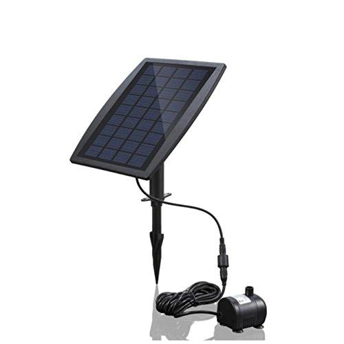 Solar-Brunnen-Wasserpumpe 25 W schwimmende Tauchwasserfall Dekoration für Vogel Bad Teich Garten Hof im Freien Solar Panel Kit