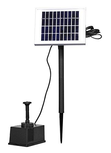 MCTECH 2W Bürstenlose Solarpumpe Solar Wasserspiel Teichpumpe Fontäne Pumpe Springbrunnen für Gartenteiche