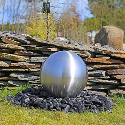 CLGarden Edelstahlkugel 38cm für Springbrunnen rostfreie Kugel aus matt gebürstetem Edelstahl DIY Gartenbrunnen Wasserspiel Kugelbrunnen für draußen