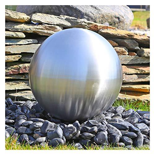 CLGarden Rostfreie Kugel aus matt gebürstetem Edelstahl mit 38cm Durchmesser für Springbrunnen Garten Wasserspiel Kugelbrunnen Zierbrunnen Aussenbereich