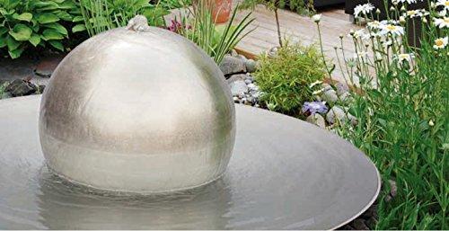 gartenmetall Kugelbrunnen aus Edelstahl Tonga