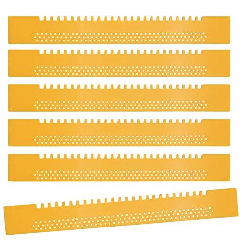 Lantelme 6896-15 St Bienen Fluglochverkleinerer - Fluglochschieber aus Kunststoff - Bienenflucht Farbe gelb - Imkereibedarf