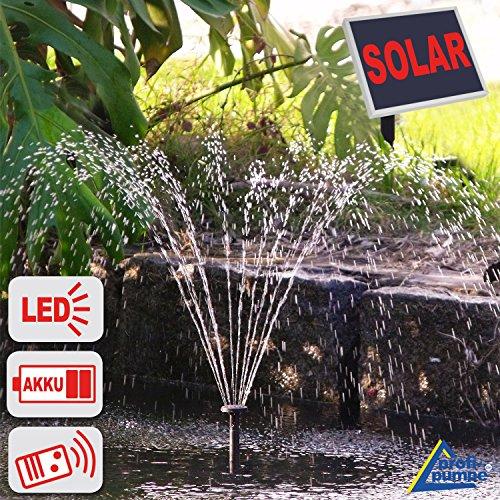 Amur Solar TEICHPUMPE Solar-TEICHPUMPE GARTENTEICH Pumpe SPRINGBRUNNEN Oasis 501R Solar-Teichpumpen-Set 5Watt für Garten Teich Pumpe