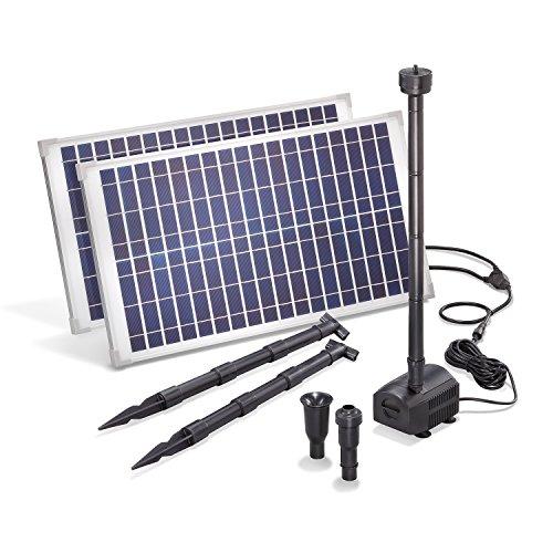 Solar Teichpumpe 50 Watt Solarmodul 1750 lh Förderleistung 30 m Förderhöhe esotec Professional Produktserie Komplettset Springbrunnen Gartenteich 101916