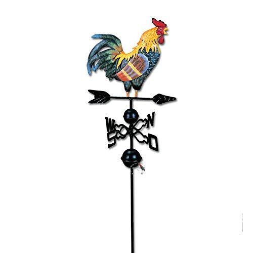 SIDCO  Hahn Windrad Wetterhahn Windspiel Metall Wetterfahne Windanzeige Gartendeko