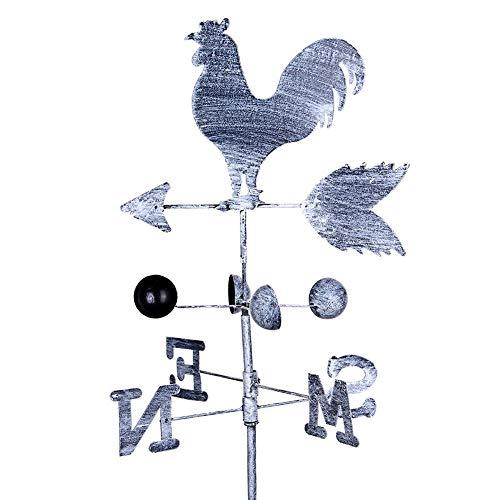 Wetterhahn Wetterfahne Eisen Hahn Vintage Garten Deko Figuren Pfeil-S-N Höhe Ca120cm Windspiel Weihnachtsgeschenk Von 332PageAnn