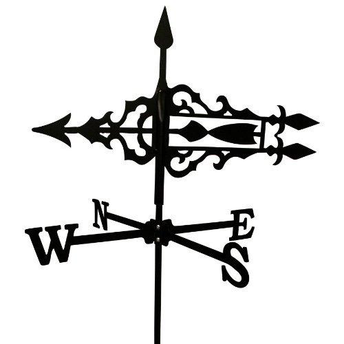 Wetterfahne 515x685cm Motiv Pfeil klein schwarz Stahl Windspiel Windfahne Stabfahne