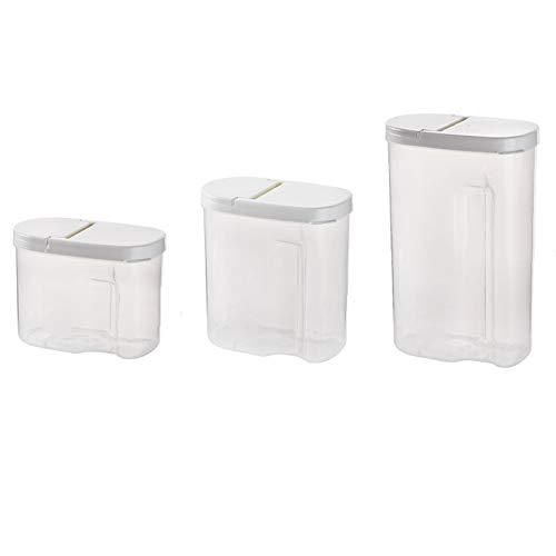 Klar Speicher Kunststoffe Aufbewahrungsbox versiegelt Hundefutter Pet Cookies Mutter Aufbewahrungsbox Küche Kunststoff Container Pack von 3
