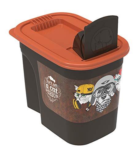 Rotho 4002310531 Aufbewahrungsbox für Tierfutter aus Kunststoff PP - Volumen 2 2 Liter S braunorange