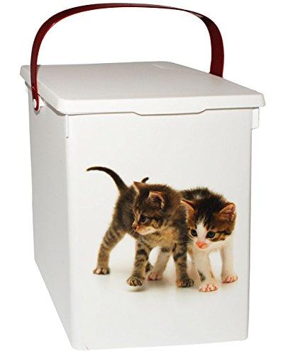 Unbekannt Futterdose  Futterbox -  süße Katzen  - für Tierfutter - Katzenfutter - 5 Liter - Vorratsdose  Aufbewahrungsbox - aus Kunststoff  Dose - Kiste mit Deckel