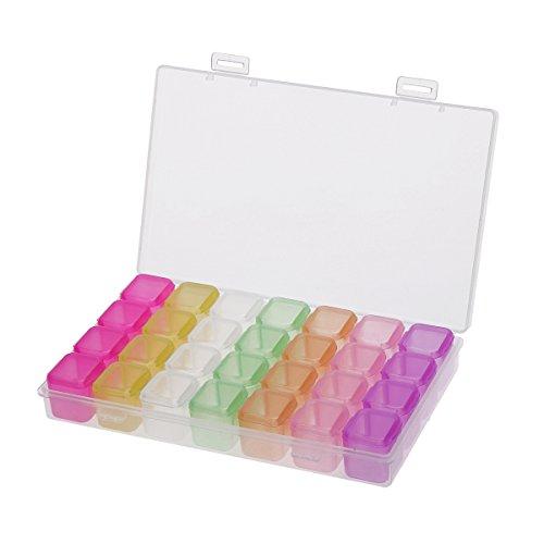 ounona Schmuck Organizer Kunststoff Aufbewahrungsbox mit herausnehmbaren Trennwänden Ringe Ohrringe Stauraum Halsketten Multicolor