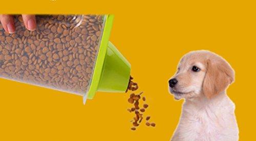 XCXpj Katzen Zubehör Kunststoff Aufbewahrungsbox Hundefutter Körner Container Transparent Store Tank Grün