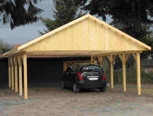 Carport Satteldach MONTE CARLO I 600x700cm KVH-Holz Satteldachcarport