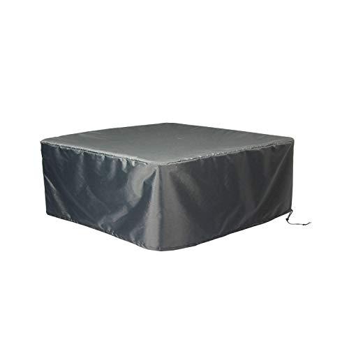 Hentex Cover Rechteckige Allwetter Garten Whirlpool Abdeckung Wasserdicht Schutz vor Wind UV schützende Grau 230W230D85H cm