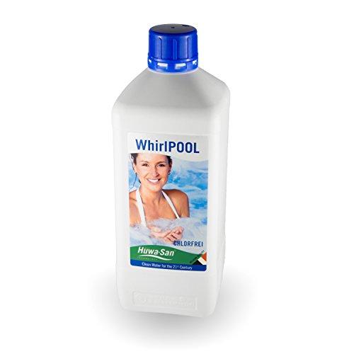 Huwa-San Whirlpool chlorfreie Wasserpflege und Desinfektionsmittel mit stabilisiertem Aktivsauerstoff 1L für 800L Poolinhalt