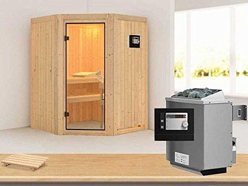 Karibu Aktionssauna OSB 22 inkl 9-kW-Ofen mit ext Steuerung