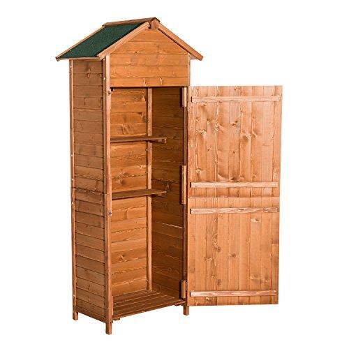 HOMCOM Outsunny Holz Gerätehaus Geräteschrank Gartenschrank Gartenhaus Geräteschuppen
