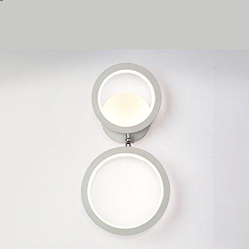 HONGLIGeführte Nachttischlampe einfache kreative moderne Wohnzimmer TV Schrank Wand Lichter Gang Beleuchtung Zimmer Schlafzimmer rotierende Wandleuchte