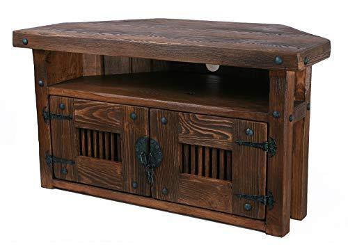 TV Ecktisch HiFi Eckschrank Rustikal Unikat Massivholz VintageSchrank Tisch Höhe 50 cm Breite 90 cm Tiefe 45 cm