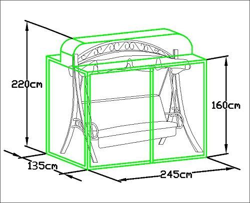 Loywe stabile Schutzhülle für Hollywoodschaukel Gartenschaukel für LW51LWG112New