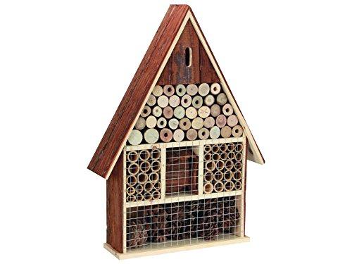 Perel Insektenhotel aus Holz groß 49 x 35 x 9 cm braun BB50503