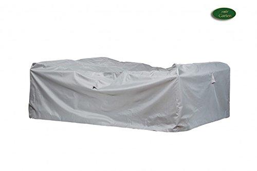 Gartenmöbel Schutzhülle  Abdeckung - Premium XXL 300 x 300 x 80 cm wasserdichte Abdeckplane für Eck-Loungegruppe  Oxford 600D Polyestergewebe  mit Ventilationsöffnungen