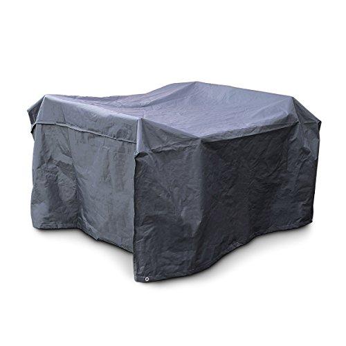 Relaxdays Schutzhülle Sitzgruppe reißfeste Abdeckplane Wetterschutz Kunststoff H x B x T 70 x 160 x 200 cm grau