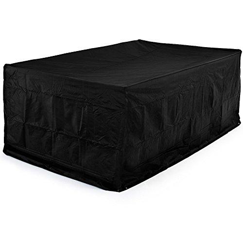 Deuba Kingsleeve Abdeckung Sitzgruppe 308x138x89cm  Wetterfest Schutzhülle 420 D Oxford  Tisch Stuhl Gartenmöbel Plane