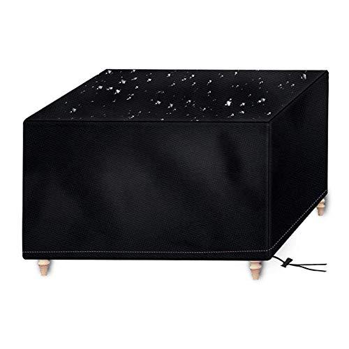 Osarke Abdeckung für Gartenmöbel Wasserdichtes Schutzhülle für Garten Tisch und Stühle Schutzhülle Sitzgruppe Abdeckhaube Oxford Schwarz 200 x 160 x 70cm