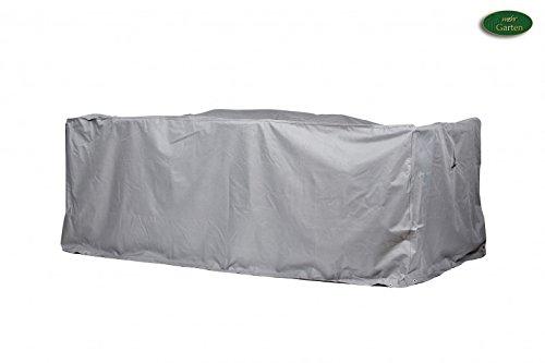 Premium Schutzhülle für Sitzgruppe rechteckig aus Polyester Oxford 600D - lichtgrau - von mehr Garten - Größe XL 320 x 220 cm