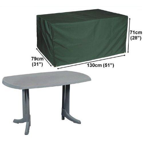 Deluxe Polyester Schutzhüllen Abdeckplane für Rechteckig Garten Tisch 130cm