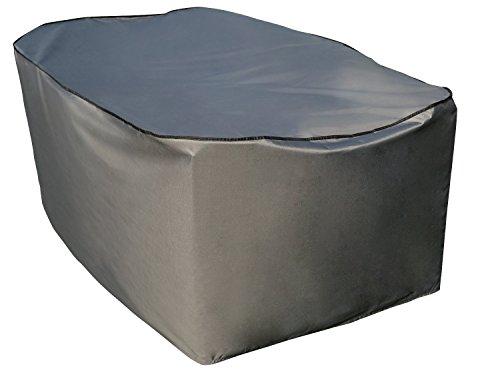 Schutzhülle  Cover für rechteckigen Tisch Set  Grau  234 x 153 x 90 cm L x B x H  Wasserabweisend  SORARA  Polyester PU Coating UV 50 Premium  Abdeckhaube  Wettershutz  Regenfest  für Outdoor Garten Möbel