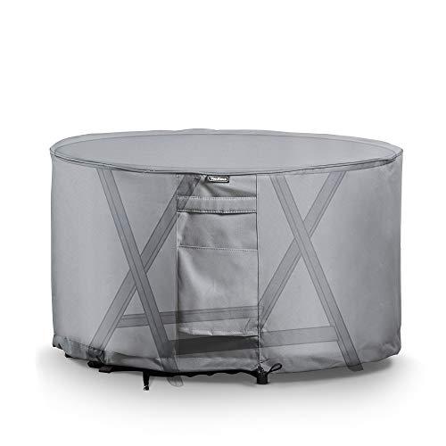 VonHaus Abdeckung Abdeckhaube für runde Tische – Wasserdichte atmungsaktive Schutzhülle für drinnen draußen – Schutz vor Wind Regen Frost Hitze Staub mehr