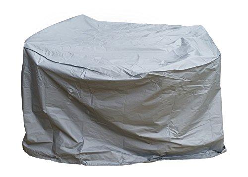 Gartenfreude Schutzhülle PE für Gartenmöbel rund 160 x 90 cm grau