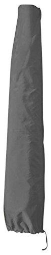 greemotion Schutzhülle Sonnenschirm 4m Durchmesser - Schirmhülle Marktschirm in Grau - Gartenmöbel Abdeckung - Sonnenschirmhülle - Schirmabdeckung Polyester - Gartenschutzhülle für Outdoor-Möbel