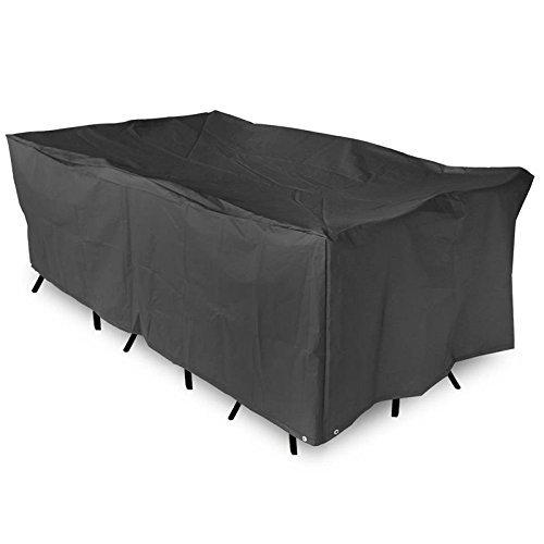 maxineer Abdeckplane Gartenmöbel WasserdichtAbdeckung Gartenmöbel Schutzhülle für Gartenmöbel Gartentisch und Möbelsets Sitzgruppe und Loungemöbel Schwarz 200x160x70cm7874x6299x2755inch