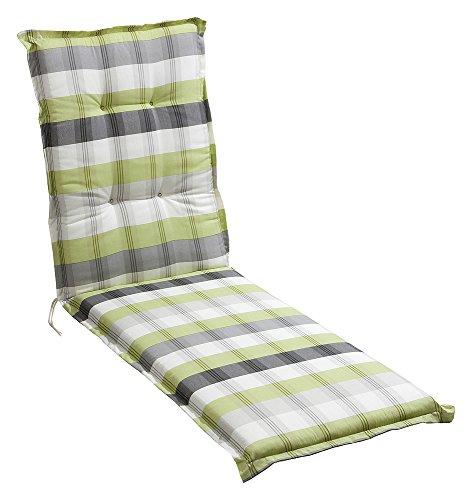 Madison Auflage Polster für Liegestuhl und Garten-Liege 8cm dick in 2 versch Farben Sabrina Sabrina Lime