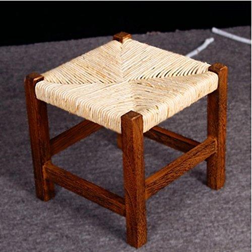 Hocker Massivholz Stool Sprudel Mode Rattan Pastoral Kleine Moderne Einfache Nicht-Kunststoff-Couchtisch