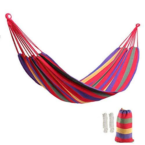 Lovebay Outdoor Indoor Hängematte xxl für kinder Camping Garten 250 kg Tragfähigkeit 110x 60 Rot