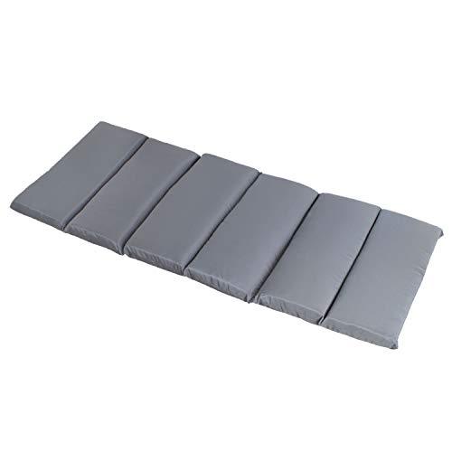 Ampel 24 Outdoor Auflage für Holz-Hängematte Catania Polsterauflage ca 200 x 80 cm Polster ca 6 cm dick Bezug grau