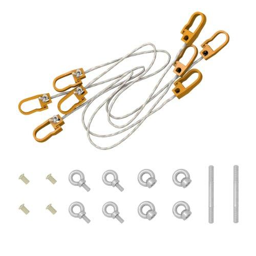 Ampel 24 Stabhängematten Sicherung erleichtert Ein- Ausstieg für Hängemattengestelle aus Holz und sichert Hängematten bei Wind