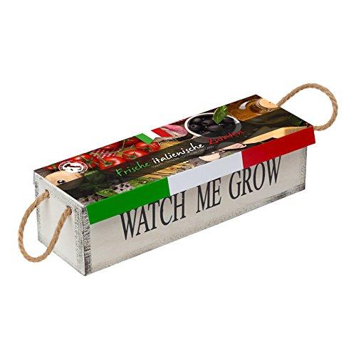 Watch me grow frische italienische Kräuter Pflanz-Set Samen Kräutersamen